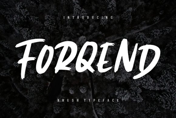Print on Demand: Forqend Display Font By CreatypeStudio - Image 1