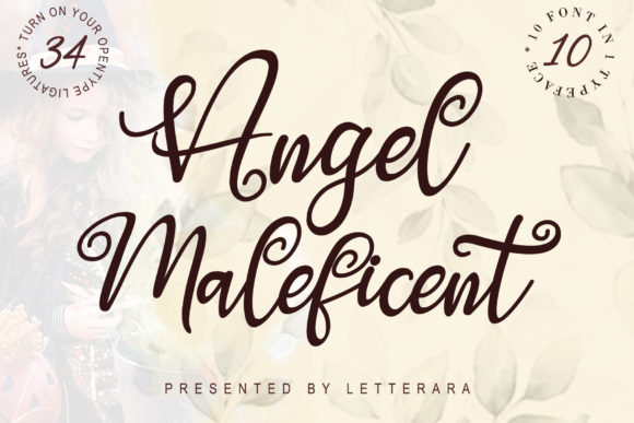 Print on Demand: Angel Maleficent Script & Handwritten Font By thomasaradea