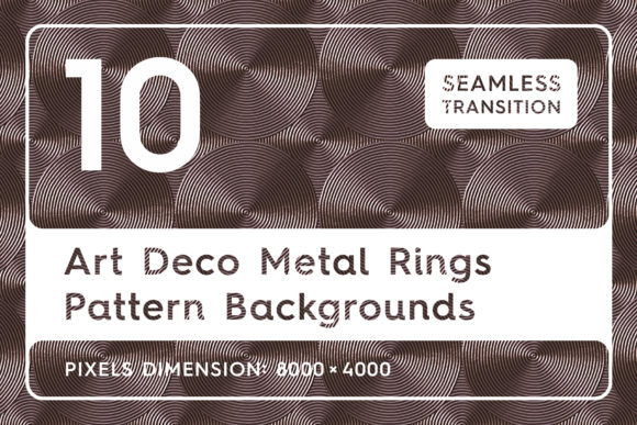 10 Art Deco Metal Rings Backgrounds Graphic By Textures