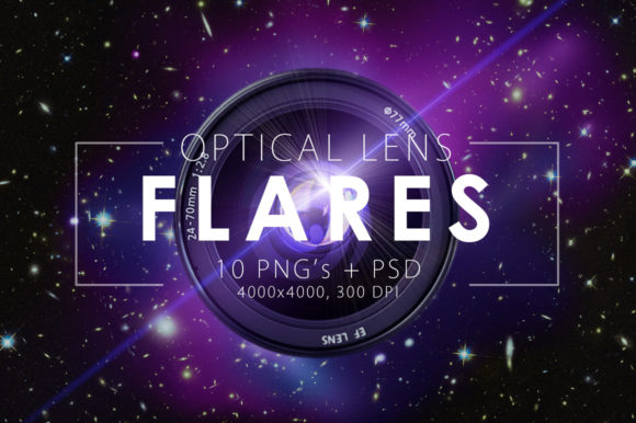 Print on Demand: 10 Optical Lens Flares Graphic Objects By ArtistMef