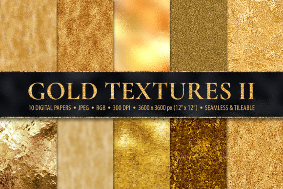 Download Free 10 Seamless Gold Foil Metallic Textures Graphic By Catjello for Cricut Explore, Silhouette and other cutting machines.