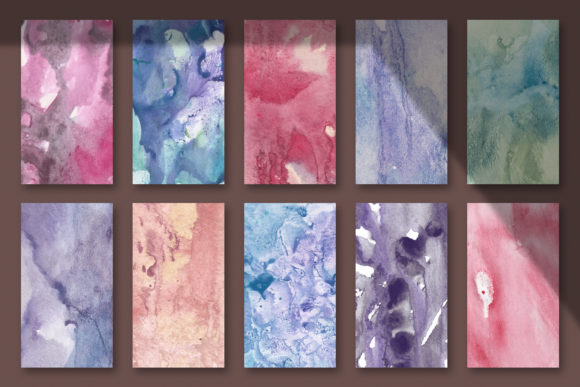 Download Free 10 Seamless Watercolor Textures Graphic By Catjello Graphics for Cricut Explore, Silhouette and other cutting machines.