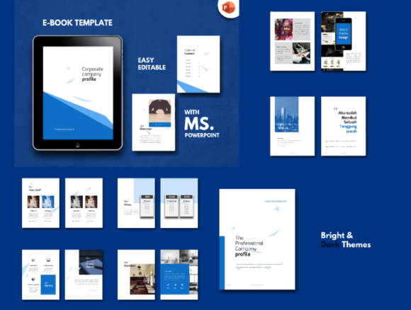 Download Free Bundle Ebook Template Powerpoint Graphic By Rivatxfz Creative for Cricut Explore, Silhouette and other cutting machines.