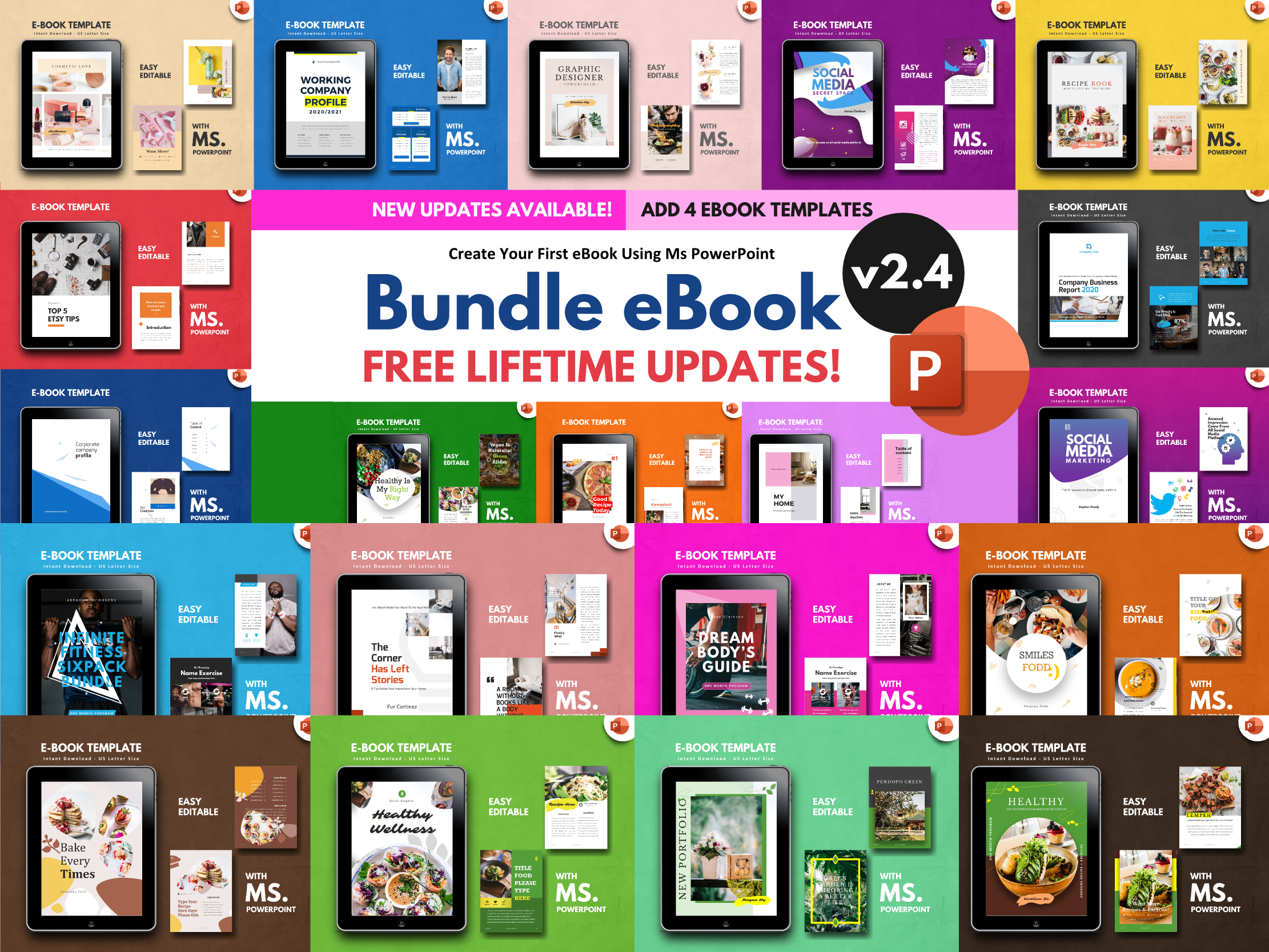 Download Free Bundle Ebook Template Powerpoint Graphic By Rivatxfz Creative Fabrica for Cricut Explore, Silhouette and other cutting machines.