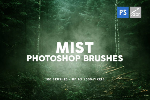 Print on Demand: 100 Mist Photoshop Stamp Brushes Graphic Brushes By ArtistMef