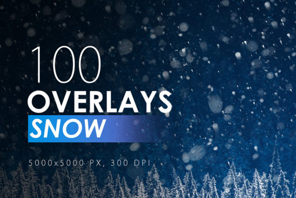 Print on Demand: 100 Snow Overlays Graphic Textures By ArtistMef