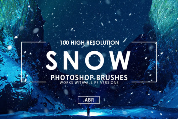Download Free 100 Snow Photoshop Stamp Brushes Graphic By Artistmef Creative for Cricut Explore, Silhouette and other cutting machines.