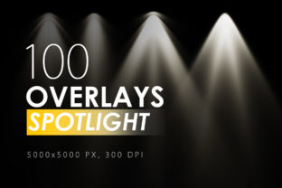 100 Spotlight Overlays Graphic By ArtistMef