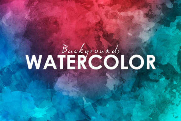Print on Demand: 11 Watercolor Backgrounds Graphic Backgrounds By ArtistMef