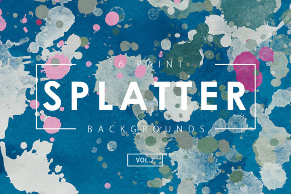 Download Free 16 Paint Splatter Backgrounds Volume 2 Graphic By Artistmef for Cricut Explore, Silhouette and other cutting machines.