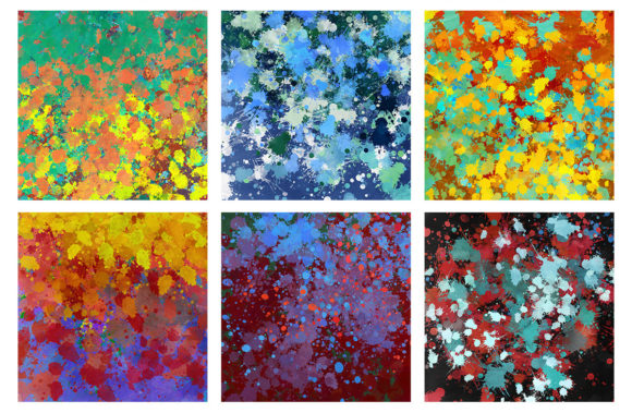 Download Free 16 Paint Splatter Backgrounds Volume 3 Graphic By Artistmef for Cricut Explore, Silhouette and other cutting machines.