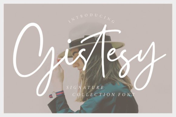 Print on Demand: Gistesy Script & Handwritten Font By CreatypeStudio