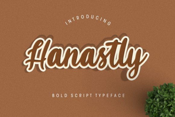 Print on Demand: Hanastly Script & Handwritten Font By CreatypeStudio - Image 1