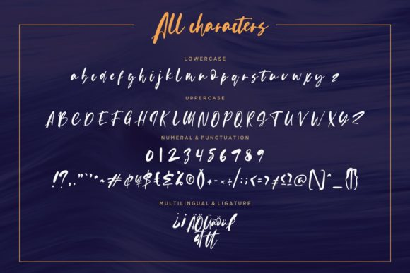 Print on Demand: Evangeline Script & Handwritten Font By CreatypeStudio - Image 7