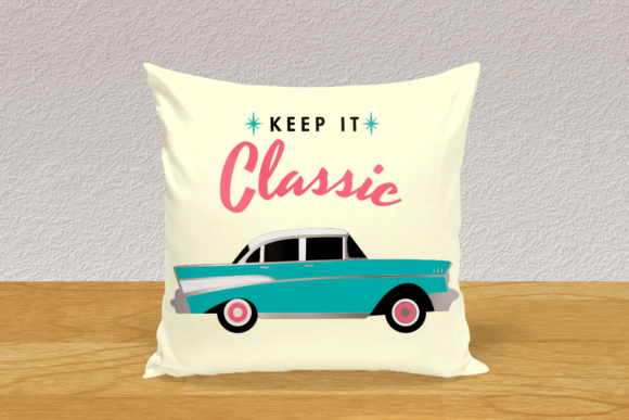 1950s Classic Car SVG Graphic Crafts By RisaRocksIt - Image 1