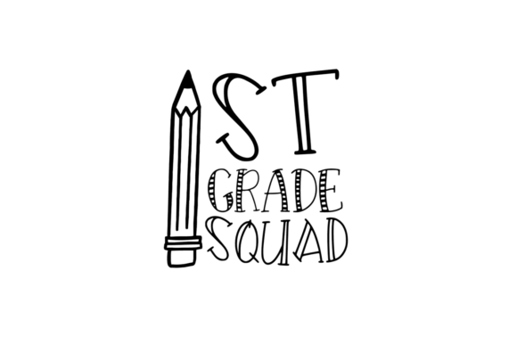 Download Free 1st Grade Squad Svg Graphic By Thesmallhouseshop Creative Fabrica for Cricut Explore, Silhouette and other cutting machines.