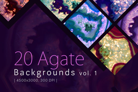 Print on Demand: 20 Agate Backgrounds Vol. 1 Graphic Backgrounds By freezerondigital