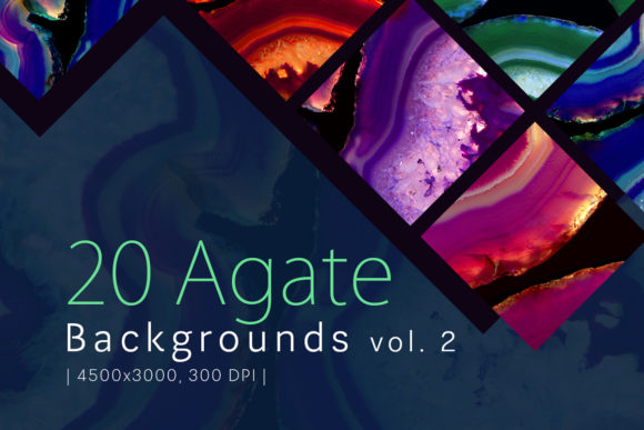 Print on Demand: 20 Agate Backgrounds Vol. 2 Graphic Backgrounds By freezerondigital