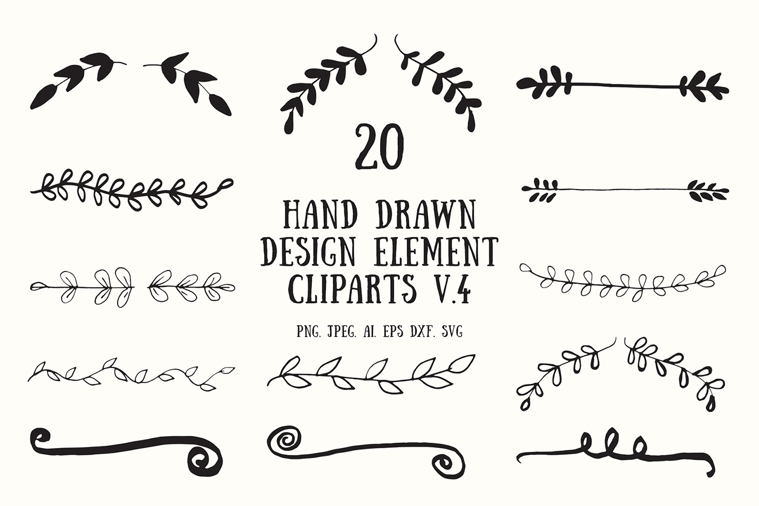 Download Free 20 Handmade Design Element Clipart 4 Graphic By Creative Tacos Creative Fabrica for Cricut Explore, Silhouette and other cutting machines.