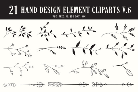Print on Demand: 20+ Handmade Design Element Clipart 6 Graphic Illustrations By Creative Tacos