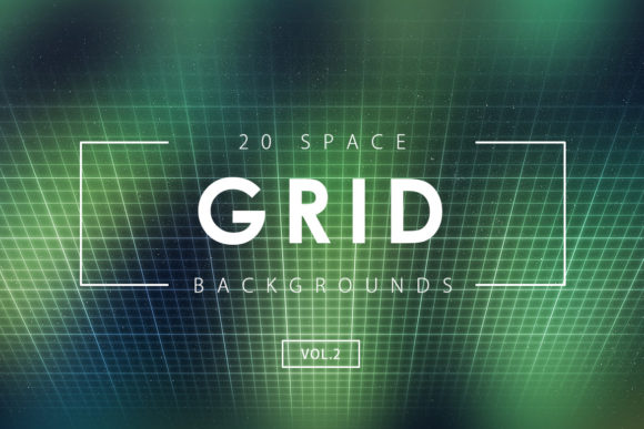 Print on Demand: 20 Space Grid Backgrounds 2 Graphic Backgrounds By ArtistMef