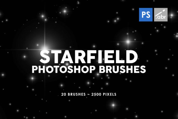 Print on Demand: 20 Starfield Photoshop Stamp Brushes Graphic Brushes By ArtistMef