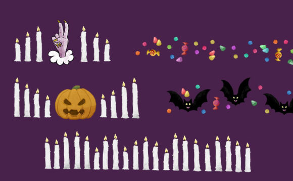 Print on Demand: 21 Halloween Borders and Frame Set Graphic Illustrations By Milaski - Image 4