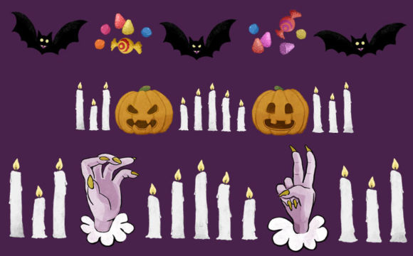 Print on Demand: 21 Halloween Borders and Frame Set Graphic Illustrations By Milaski - Image 7