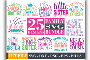 25 Family Design Bundle Graphic Print Templates By Graphicsqueen
