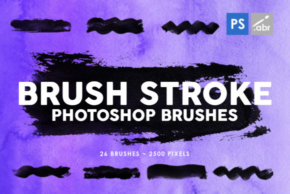Download Free 26 Brush Stroke Photoshop Brushes Graphic By Artistmef for Cricut Explore, Silhouette and other cutting machines.