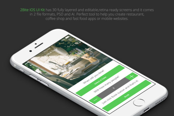 2Bite UI Kit Graphic UX and UI Kits By Web Donut - Image 2