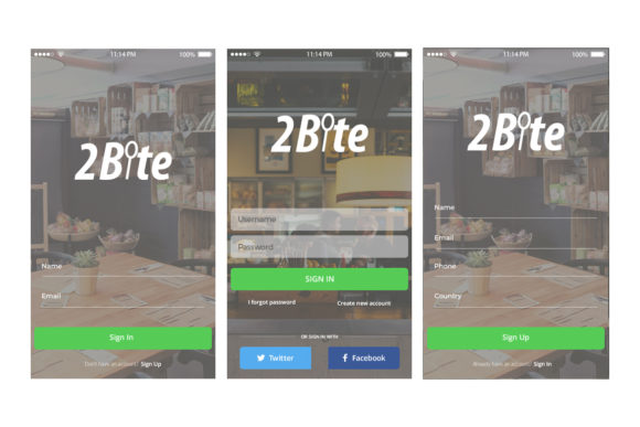 2Bite UI Kit Graphic UX and UI Kits By Web Donut - Image 4