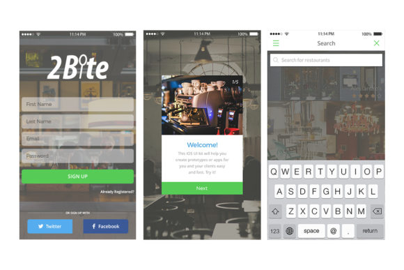 2Bite UI Kit Graphic UX and UI Kits By Web Donut - Image 5