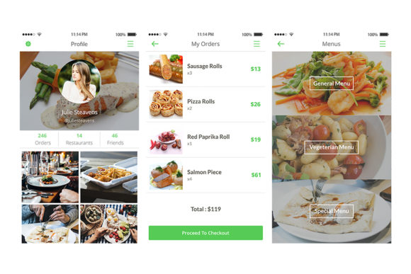 2Bite UI Kit Graphic UX and UI Kits By Web Donut - Image 9