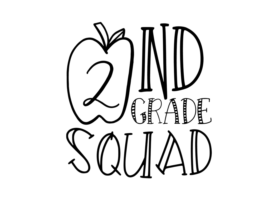 Download Free 2nd Grade Squad Graphic By Thesmallhouseshop Creative Fabrica for Cricut Explore, Silhouette and other cutting machines.