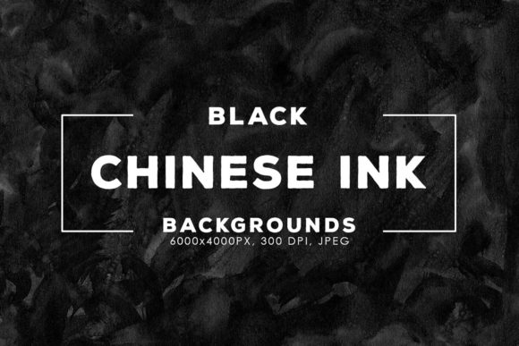 Print on Demand: 30 Black Chinese Ink Backgrounds Graphic Backgrounds By ArtistMef