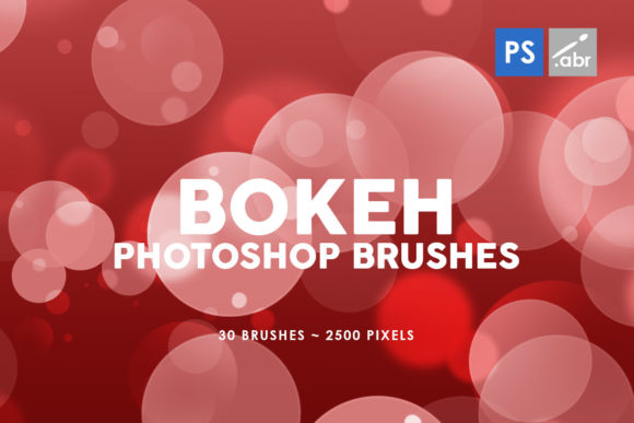 30 Bokeh Photoshop Stamp Brushes Graphic By Artistmef Creative