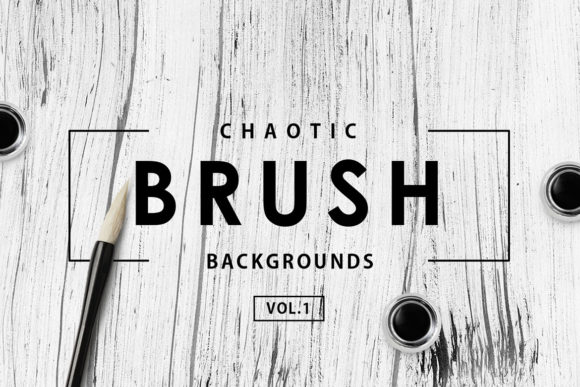Print on Demand: 30 Chaotic Brush Backgrounds 1 Graphic Backgrounds By ArtistMef