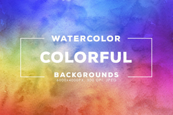 Print on Demand: 30 Colorful Watercolor Backgrounds Graphic Backgrounds By ArtistMef