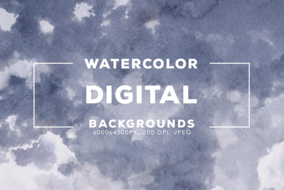 Print on Demand: 30 Digital Watercolor Backgrounds Graphic Backgrounds By ArtistMef