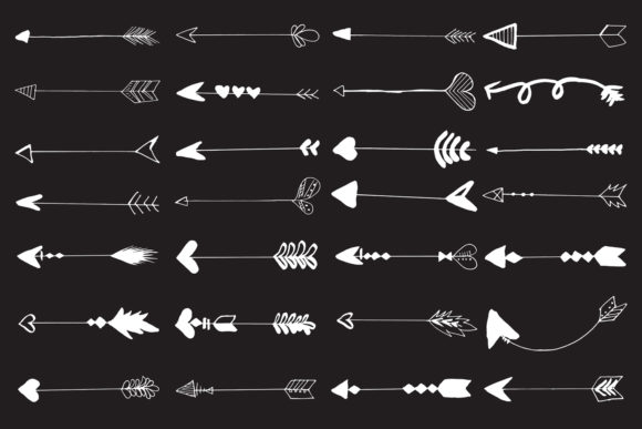 Download Free 30 Hand Drawn Arrows Cliparts Ver 5 Graphic By Creative Tacos for Cricut Explore, Silhouette and other cutting machines.