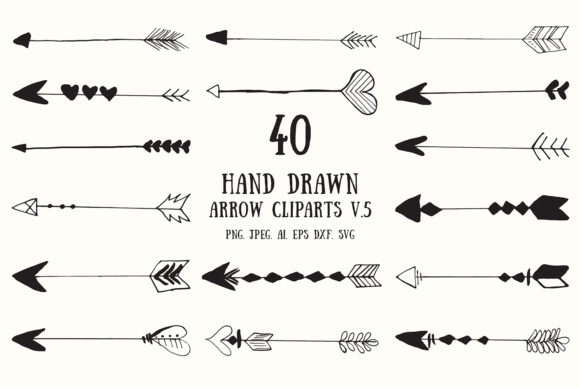 30 Hand Drawn Arrows Cliparts Ver 5 Graphic By Creative Tacos