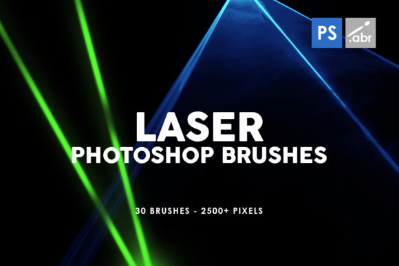 Download Free 30 Laser Photoshop Stamp Brushes Graphic By Artistmef Creative for Cricut Explore, Silhouette and other cutting machines.