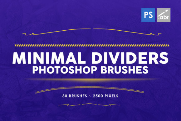 Print on Demand: 30 Minimal Dividers Photoshop Brushes Graphic Brushes By ArtistMef