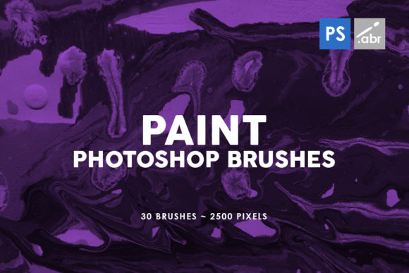 Print on Demand: 30 Paint Texture Photoshop Brushes 3 Graphic Brushes By ArtistMef