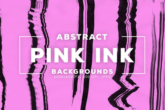 Print on Demand: 30 Pink Abstract Ink Backgrounds Graphic Backgrounds By ArtistMef