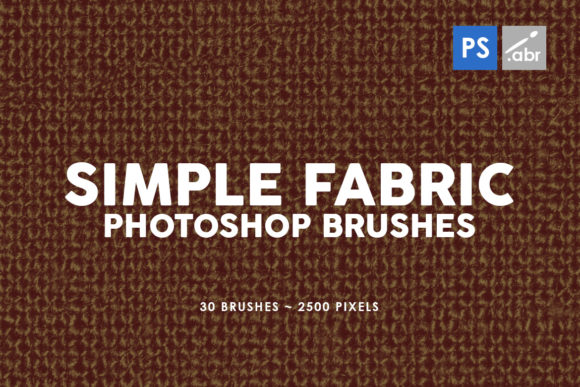 Print on Demand: 30 Simple Fabric Photoshop Stamp Brushes Graphic Brushes By ArtistMef