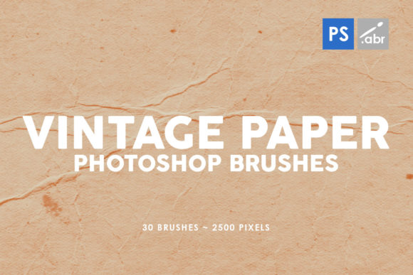 Download Free 30 Vintage Paper Photoshop Brushes 1 Graphic By Artistmef SVG Cut Files