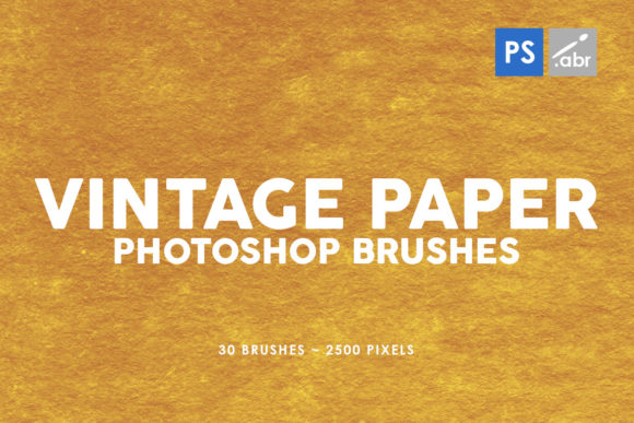Print on Demand: 30 Vintage Paper Photoshop Brushes 3 Graphic Brushes By ArtistMef