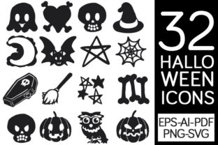 32 Halloween Icons Graphic By Milaski